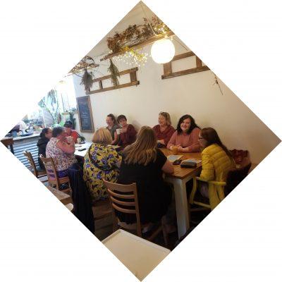 Women having lunch